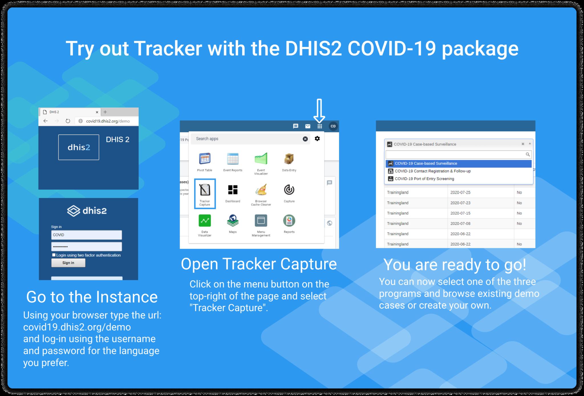 Tracker Demo Covid Instructions